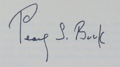 Signatures of pearl s buck autograph of pearl s buck signed by